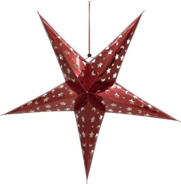 Europalms Star Lantern, Paper, red, 40 cm