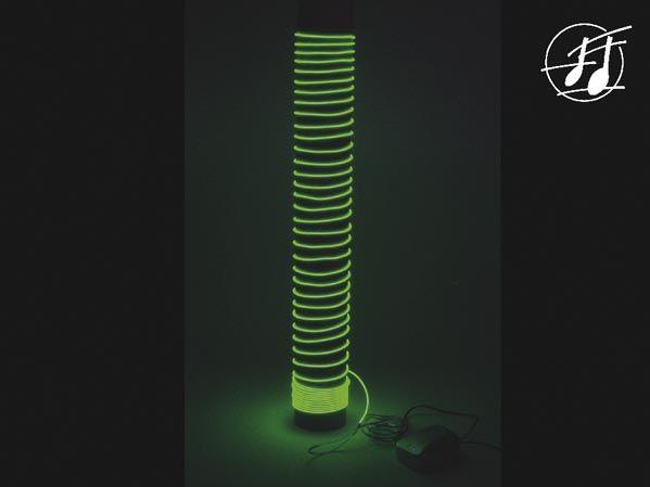 HQ Power - Musikstyret lystråd-sæt - 220VAC, GRØN (9m)