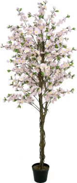 Europalms Cherry tree with 4 trunks, pink, 180 cm