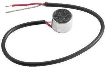 Elektret mikrofonkapsel - Ø9,7mm m. ledning