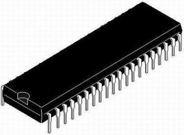 Z80A-SIO - 4MHz Serial I/O DIP 40
