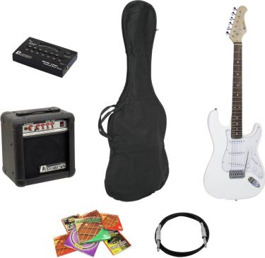 Dimavery EGS-10X electric guitar set, white