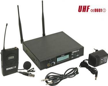 PLL trådløs 8-kanal UHF TRUE DIVERSITY m. revers mikrofon