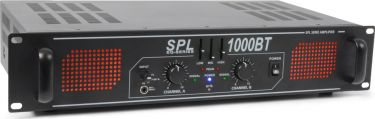 SPL 1000BT Amplifier Red LED+EQ Black
