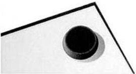 Gummifod - Sort selvklæbende Ø12,6 x 3,5mm (1 stk.)