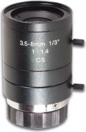 CCD zoomlinse - F1,4 / 3,5-8mm (2,3x zoom)
