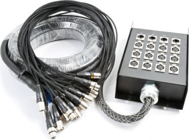 Stage Snake 12-in 4-out XLR 15 metres