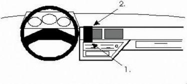 Bilbrakett Nissan Micra/Center Mount/88-