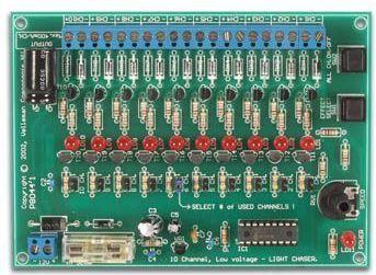 Velleman - VM120 - 10 kanal 12VDC lyseffekt generator