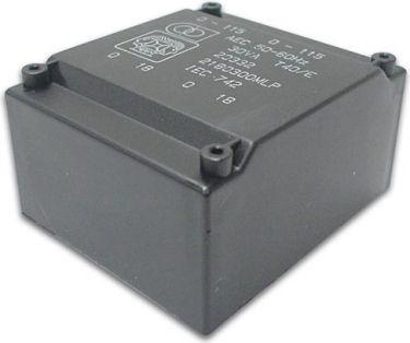 Velleman - 230V printtransformator - 30VA 2 x 6V / 2 x 2,5A (lavprofil)