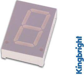 Kingbright - 7-segment display - 20mm, CA, Gul (2,2mcd)