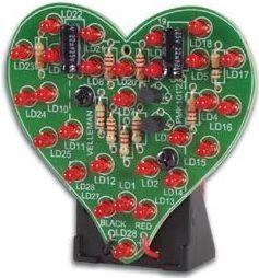 Velleman - MK101 - Blinkende hjerte m. 28 LEDs