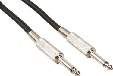 HQ Power - HQ højttalerkabel - 2 x 6,35mm mono han JACK, Blå (3m)