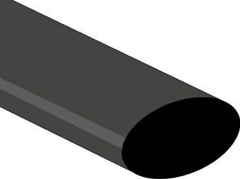 Velleman - Krympeflex 2:1 - 25,4mm SORT (metervare)