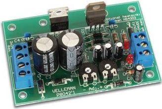 Velleman - K8042 - Symetrisk 2 x 1A strømforsyning - 1,2 til 24Vdc ud