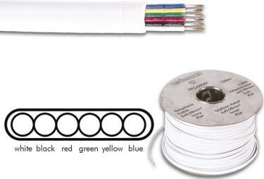 Telefonledning - 6 x 0,08mm² trådet FK6, Sort (metervare)