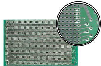 Velleman - Hulprint - 100x160mm, enkeltsidet, Full-line mønster (1 stk)
