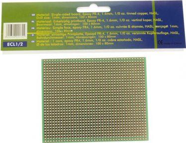 Velleman - Hulprint - 100x80mm, enkeltsidet, Full-line mønster (1 stk.)