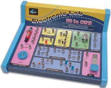 Elektronik LAB kit m. 30 elektronikprojekter