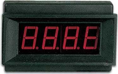 Digital LED panelmeter - 3 1/2 ciffer, 9Vdc (68x44mm)