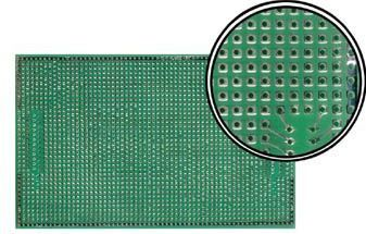 Velleman - Hulprint - 100x160mm, enkeltsidet, SUB-D mønster (1 stk.)