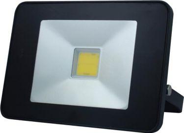 PEREL - LED facadespot m. PIR - 20W COB, Neutral hvid (IP65), Sort
