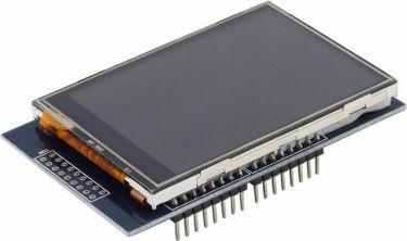 "2,8"" TFT LCD touchskærm shield til Arduino® Uno R3"