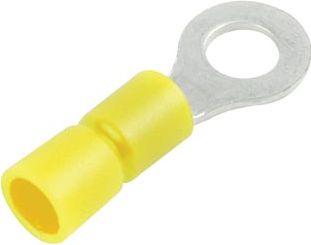 Ringkabelsko - Gul M10 Ø10,5mm hul (10 stk.)