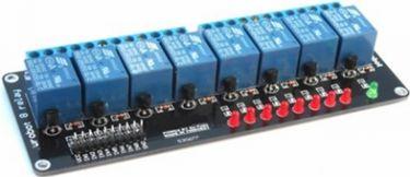 5V relæmodul m. Optokobler til Arduino - 8 kanals