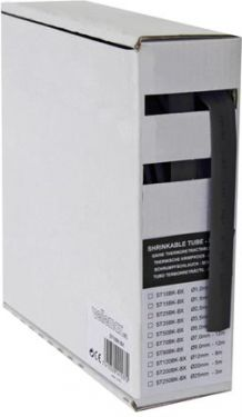 Krympeflex 2:1 - 6,4mm SORT (15m boks)