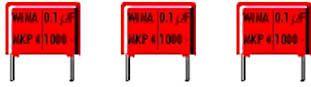 WIMA - MKP4 polypropylen kondensator - 220nF (0,22uF) 630V 22,5mm