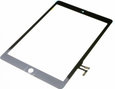 Apple iPad Air frontglas m. touch digitizer, Sort