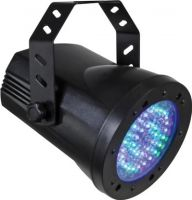 HQ Power - PAR36 LED pinspot - 4 DMX kanaler, 76 RGB LEDs, strobo (5W)