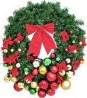 Europalms Premium Fir Wreath, decorated, 90cm