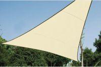 PEREL - Trekantet solsejl - 5 x 5 x 5m vandgennemtrængelig, BEIGE