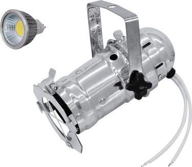 Eurolite Set PAR-16 Spot sil + MR-16 12V GX-5,3 5W LED COB 3000K