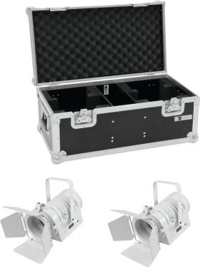 Eurolite Set 2x LED THA-40PC wh + Case