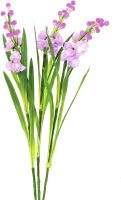Europalms Arum set, 3 branches with LEDs, pink 85cm