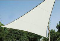 PEREL - Trekantet solsejl - 5 x 5 x 5m, CREMEHVID