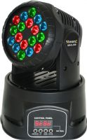 Moving Head Wash LED MHL-108 / 12-kanals DMX, 18x 3W RGB