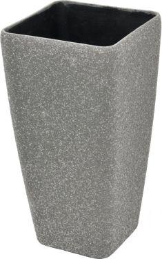 Europalms Deco cachepot STONA-41, cubic, grey