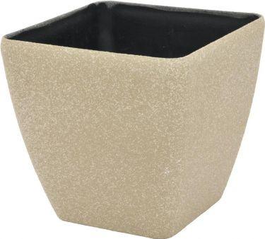 Europalms Deco cachepot STONA-20, rectangular,beige