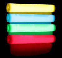Knæklys KÆMPE STORE - 30x300mm / 10 stk. Tilfældig farver