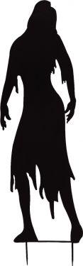 Europalms Silhouette Metal Zombie Woman, 135cm