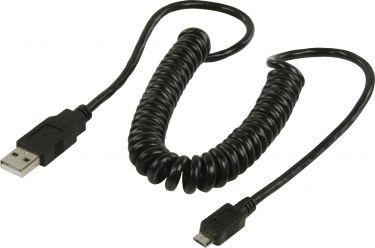 Valueline VLCP60540B20 Usb 2.0-Kabel USB A Han - Micro B Han Tvunnet 2.00 m Sort
