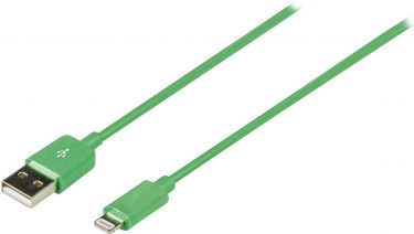Valueline VLMP39300G1.00 Sync Og Charge Kabel Apple Lightning - USB A Han 1.00 m Grøn