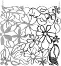 Europalms Room Divider Flower silver 4x