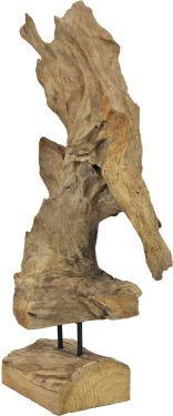 Europalms Natural wood sculpture 60cm