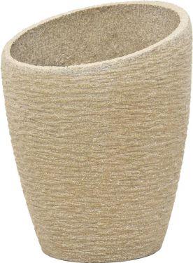 Europalms Deco cachepot STONA-77, round, beige