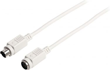 Valueline VLCP51100I30 Ps / 2 Kabel PS/2 Han - PS/2 Hun 3.00 m Elfenbensfarvet